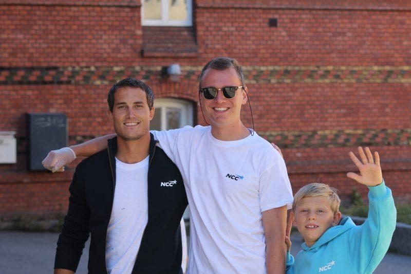 Krister og Bror er aktivitetsledere på byggeskolen, de jobber også fast i NCC.