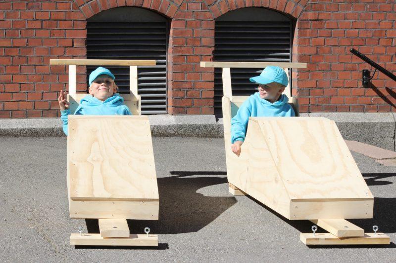 Olabiler bygget for fart! Hjulene blir montert på fredag, klar til racet!