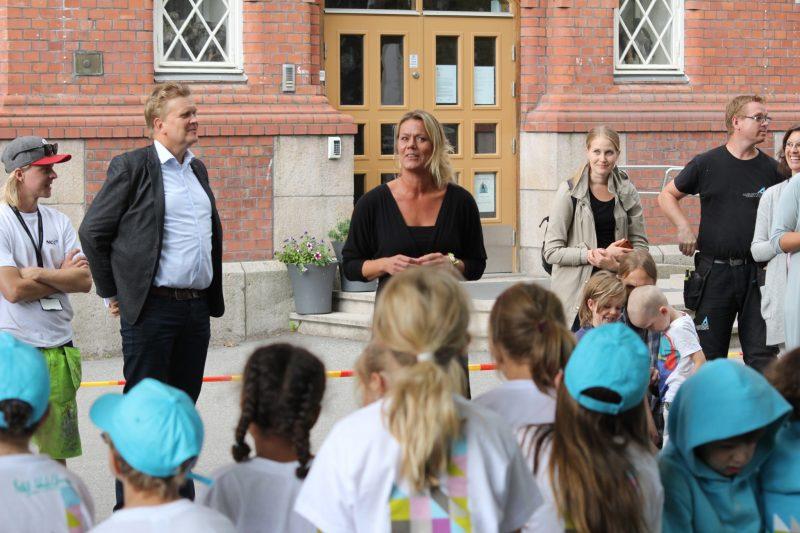 Nina Liholm og sjef for NCC Industry i Norge, Joar Caspersen