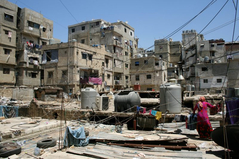 Flyktningleiren Shatila i Libanon huser 30.000 flyktninger. Foto: Leger uten grenser
